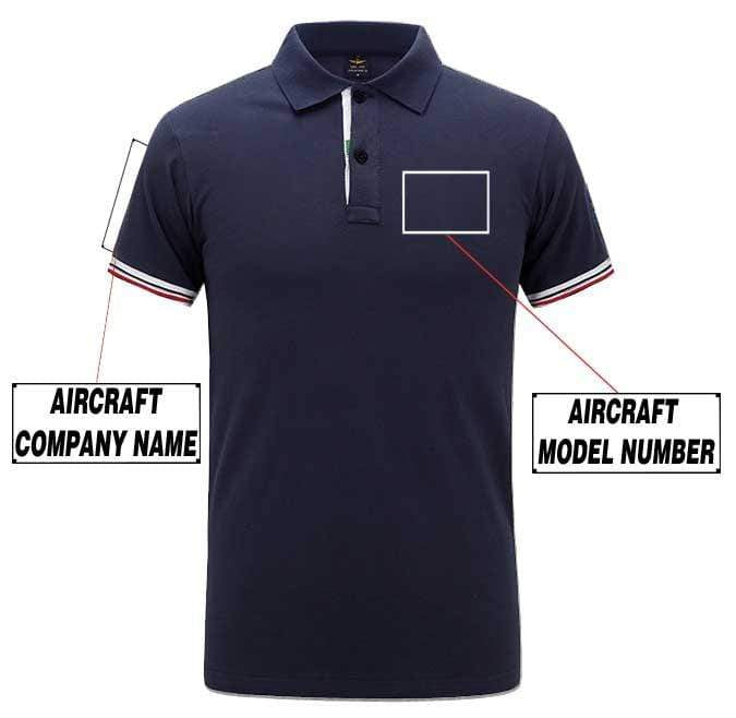 Airplane Lover polo Dark blue / S Custom Aircraft Model Number