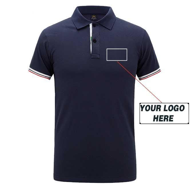 Airplane Lover polo Dark blue / S Custom Logo