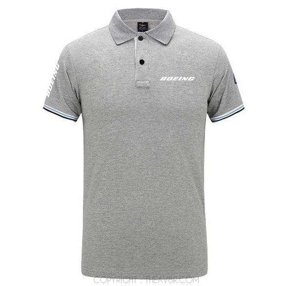 Airplane Lover polo Gray / S Boeing