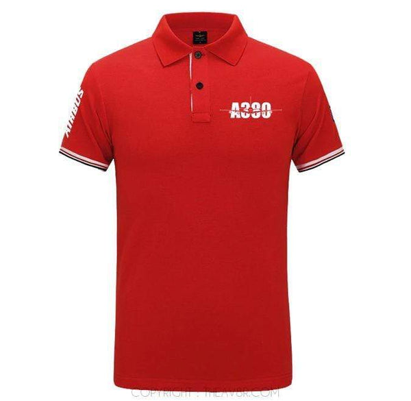 Airplane Lover polo Red / S Airbus A380