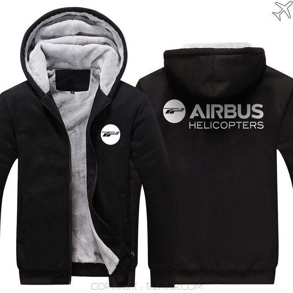 AIRZT sweatshirt Black / S AIRBUS HELICOPTER Zipper Sweater