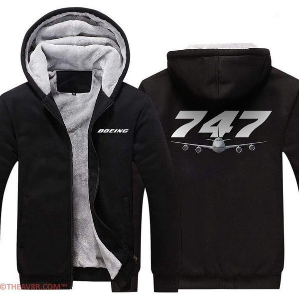 AIRZT sweatshirt Boeing 747 Zipper Sweater