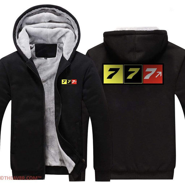 AIRZT sweatshirt B777 DESIGNED  Zipper Sweater