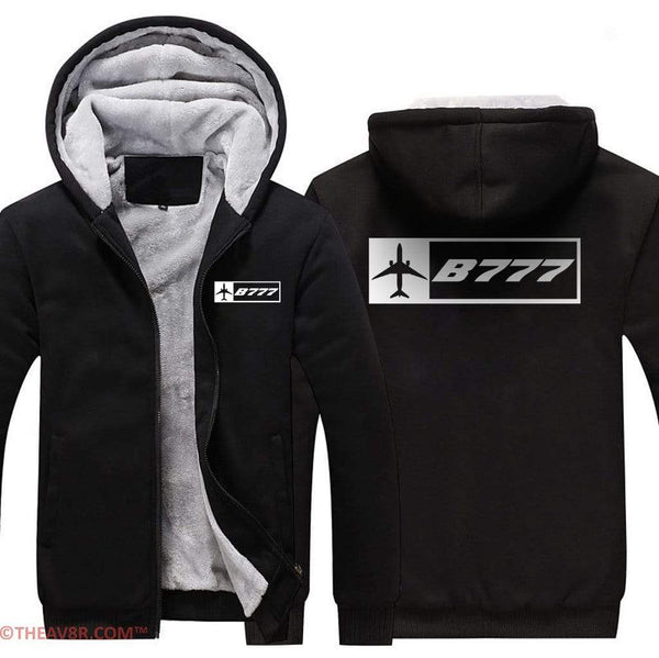 AIRZT sweatshirt Black / XS B777 DESIGNED  Zipper Sweater