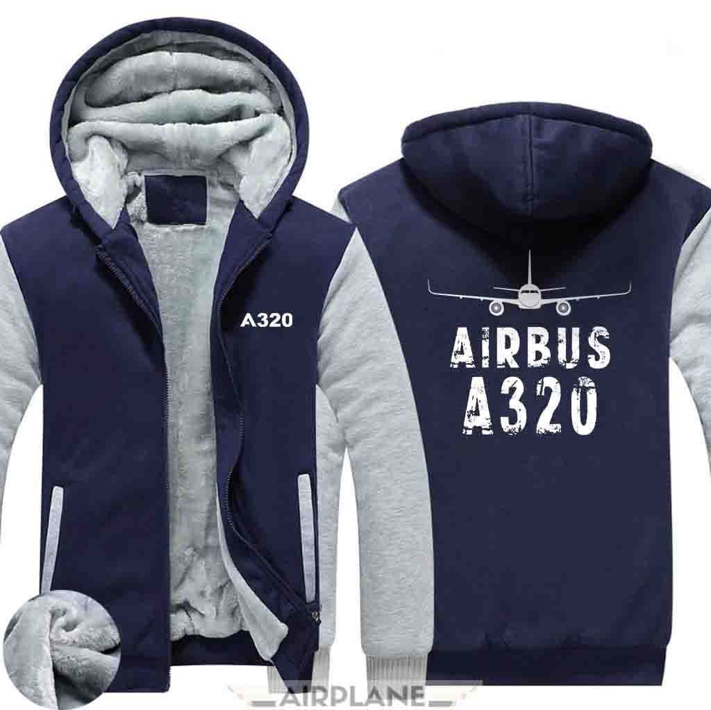 AIRZT sweatshirt Blue / XS Airbus A320 Zipper Sweater