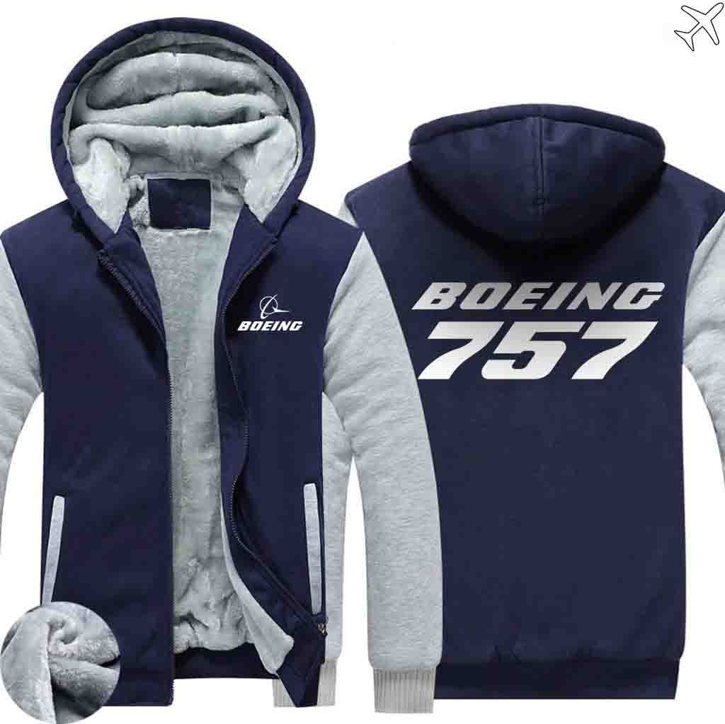 AIRZT sweatshirt Blue / XS Boeing 757 Zipper Sweater
