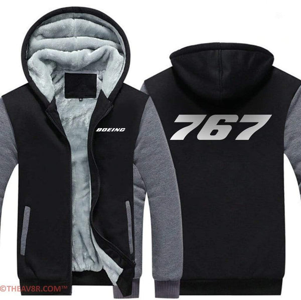 AIRZT sweatshirt BOEING 767  ZIPPER SWEATER