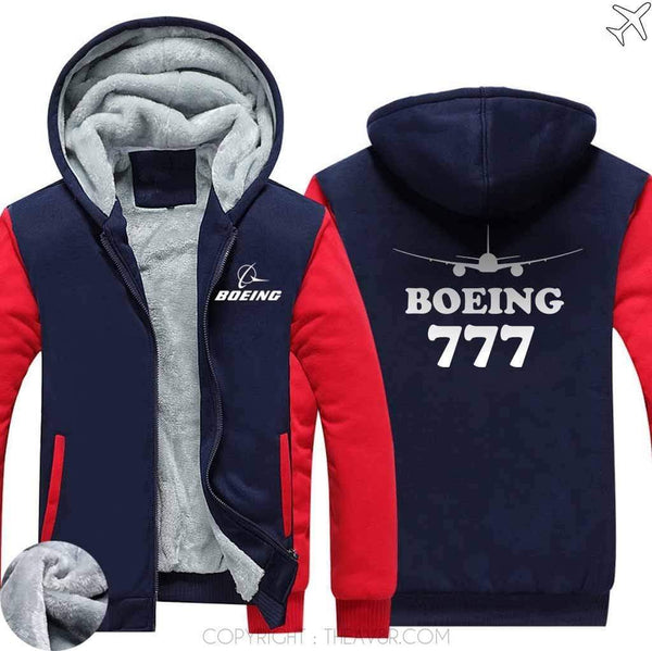 AIRZT sweatshirt Red / S Boeing 777 Zipper Sweater