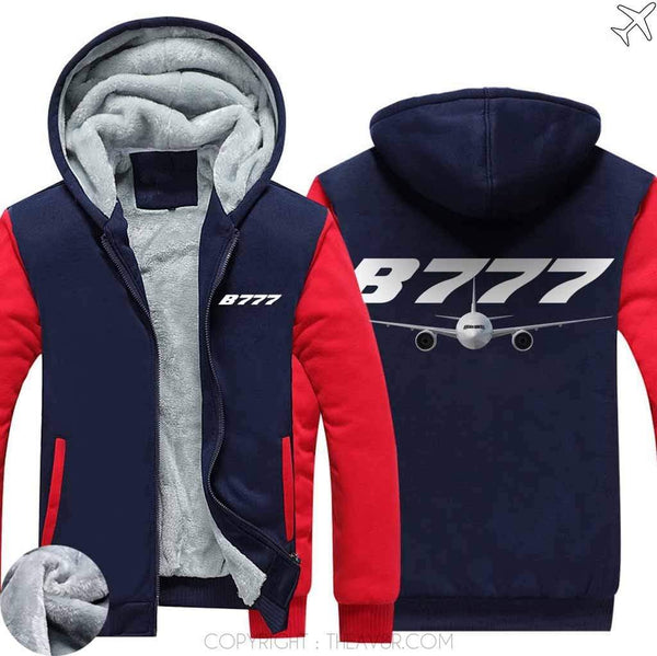 AIRZT sweatshirt Red / S Boeing 787 Zipper Sweater