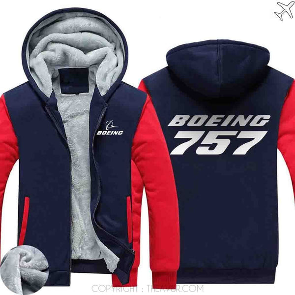 AIRZT sweatshirt Red / XS Boeing 757 Zipper Sweater