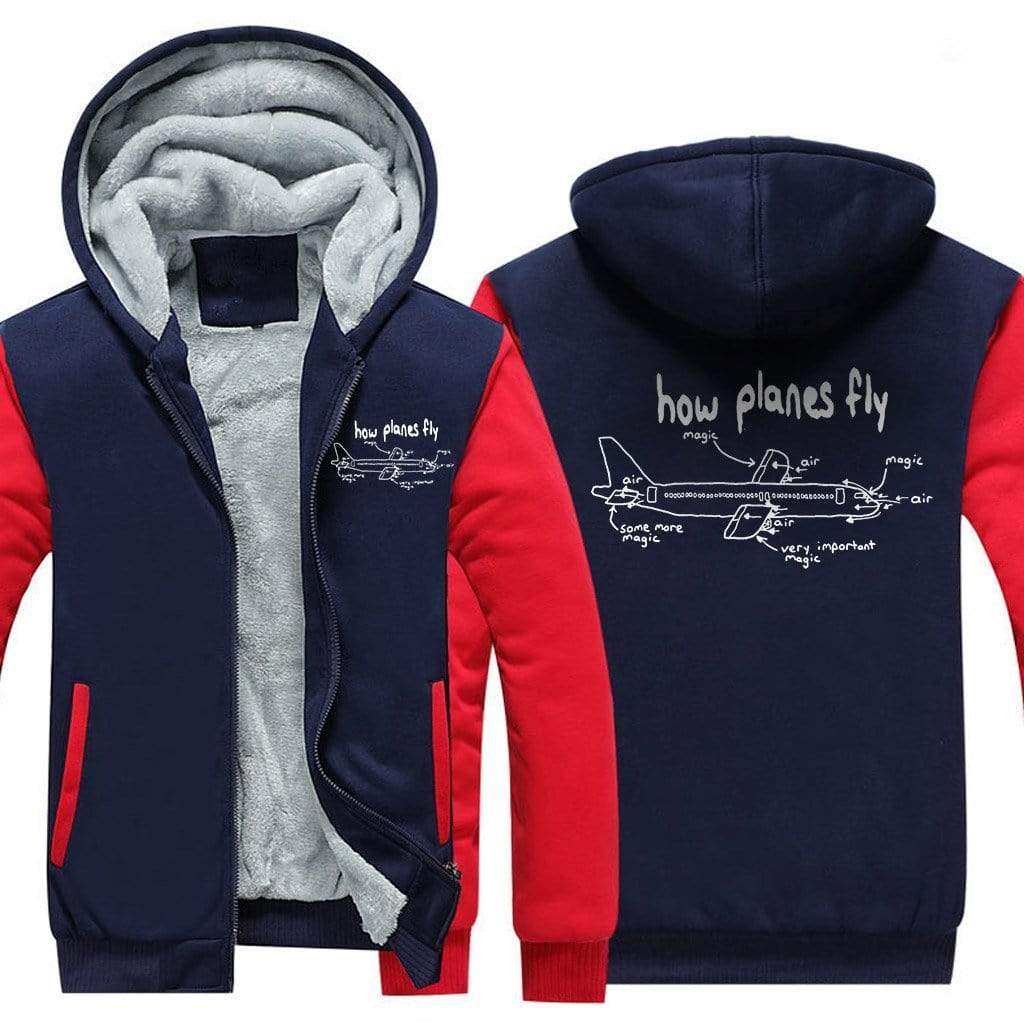 AIRZT sweatshirt Red / XS How Planes Fly