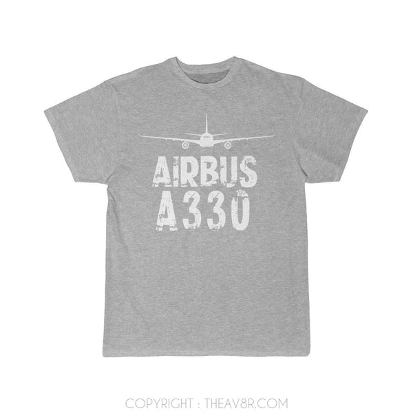 Airplane T-Shirt Athletic Heather / S Airbus A 330 T-shirts