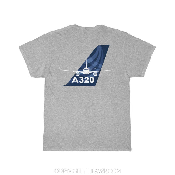 Printify T-Shirt Athletic Heather / S Airbus A320