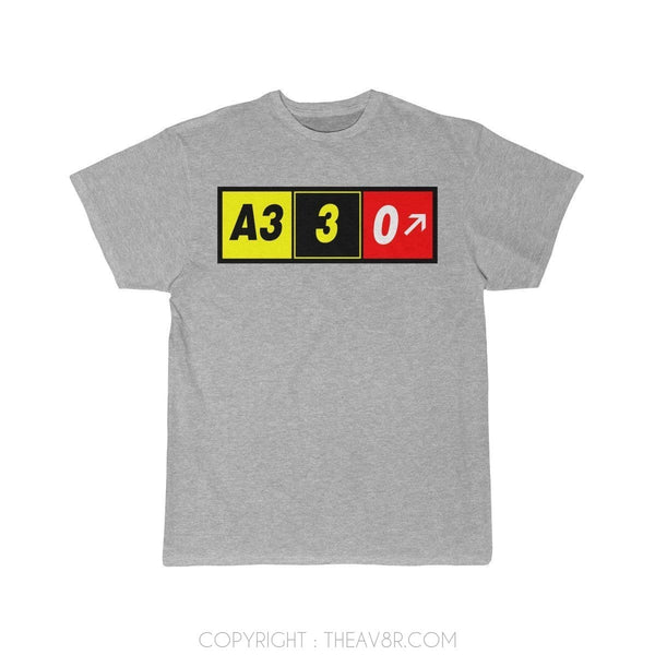 Airplane T-Shirt Athletic Heather / S Airbus A330 T-shirts