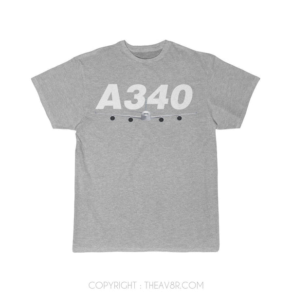 Airplane T-Shirt Athletic Heather / S Airbus A340 T-shirts