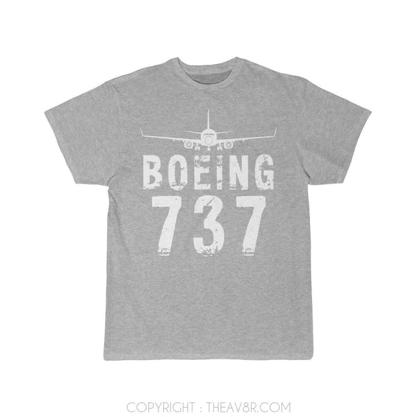 Airplane T-Shirt Athletic Heather / S Boeing 737 T-shirts