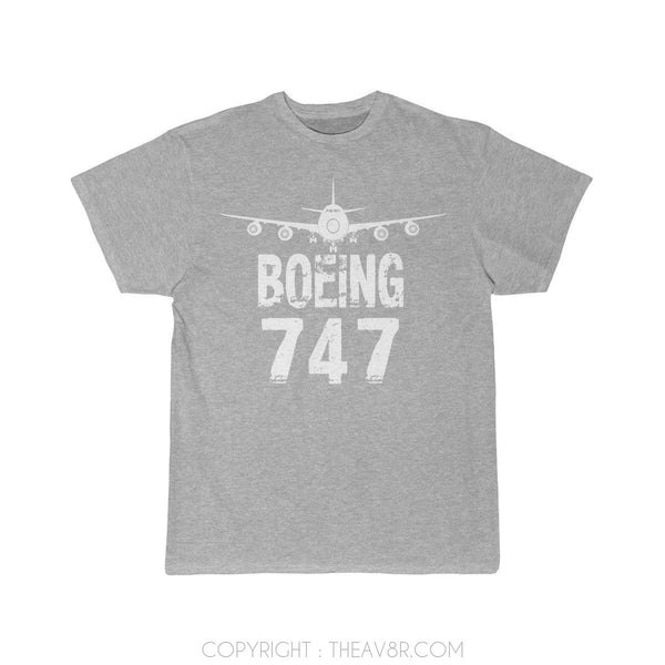 Airplane T-Shirt Athletic Heather / S Boeing 747 T-shirts