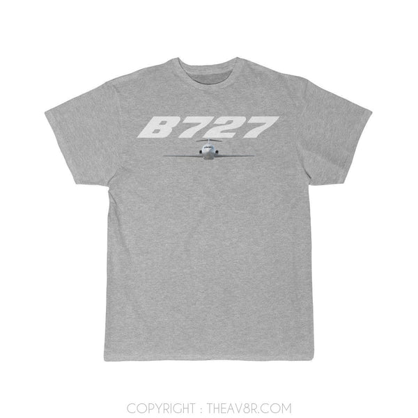Airplane T-Shirt Athletic Heather / S Boeing B727 T-shirts
