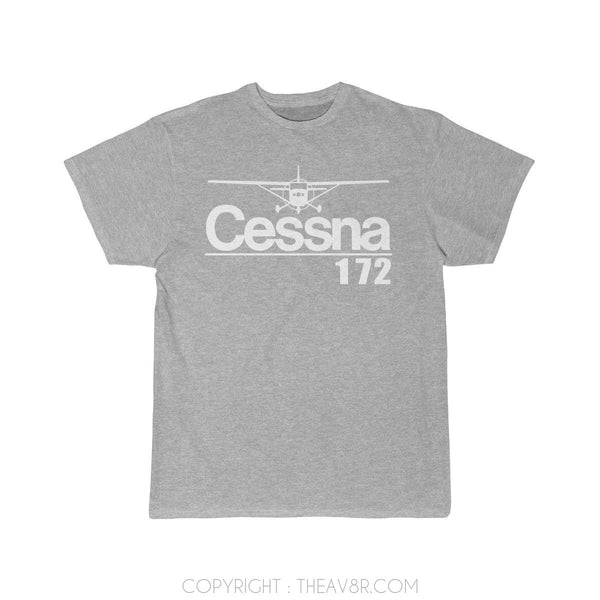 Airplane T-Shirt Athletic Heather / S Cessna 172 T-shirts