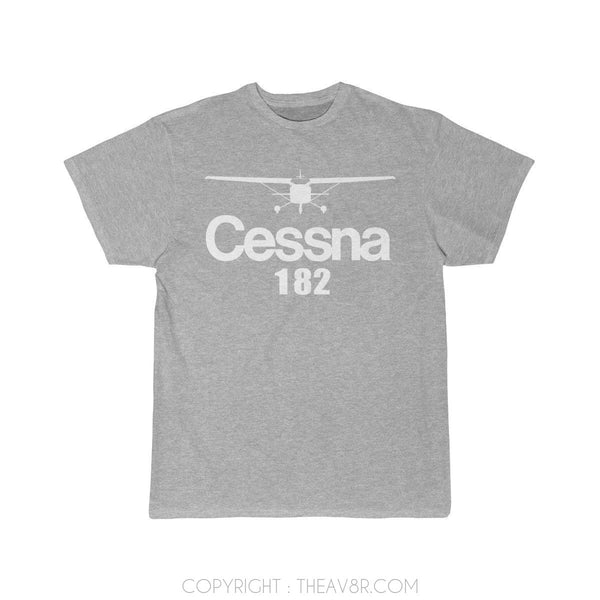 Airplane T-Shirt Athletic Heather / S Cessna 182 T-shirts