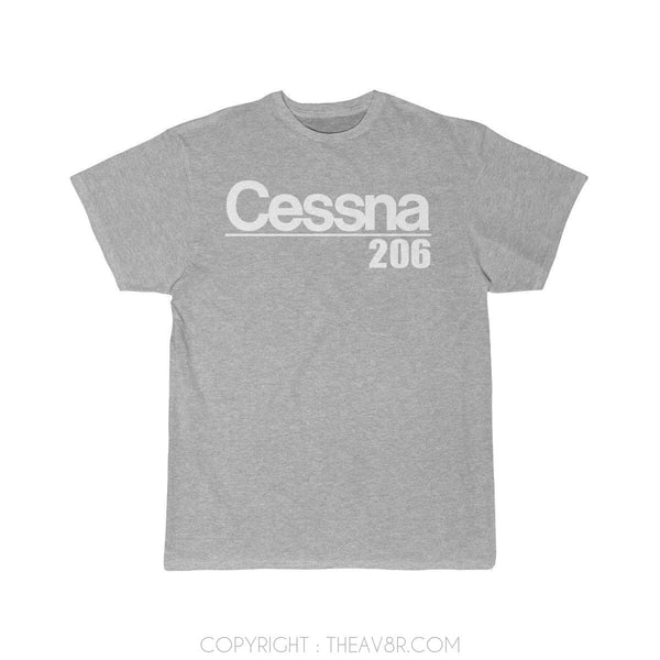 Airplane T-Shirt Athletic Heather / S Cessna 206 T-shirts
