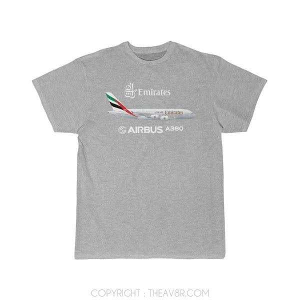 Airplane T-Shirt Athletic Heather / S Emirates Airbus A380 T-shirts