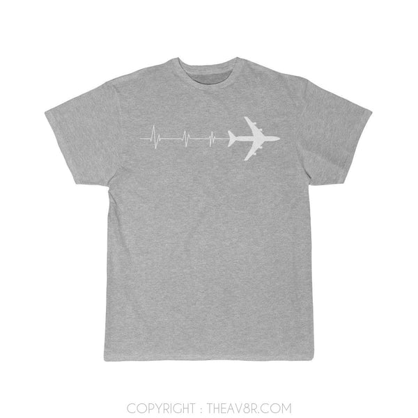 Airplane T-Shirt Athletic Heather / S HEARTBEAT 747 T-shirts