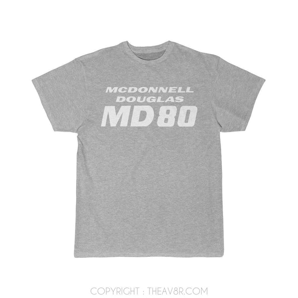 Airplane T-Shirt Athletic Heather / S MACDONAL DOGLUS MD 80 T-shirts