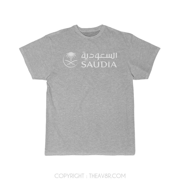 Airplane T-Shirt Athletic Heather / S SAUDIA AIRLINE T-shirts