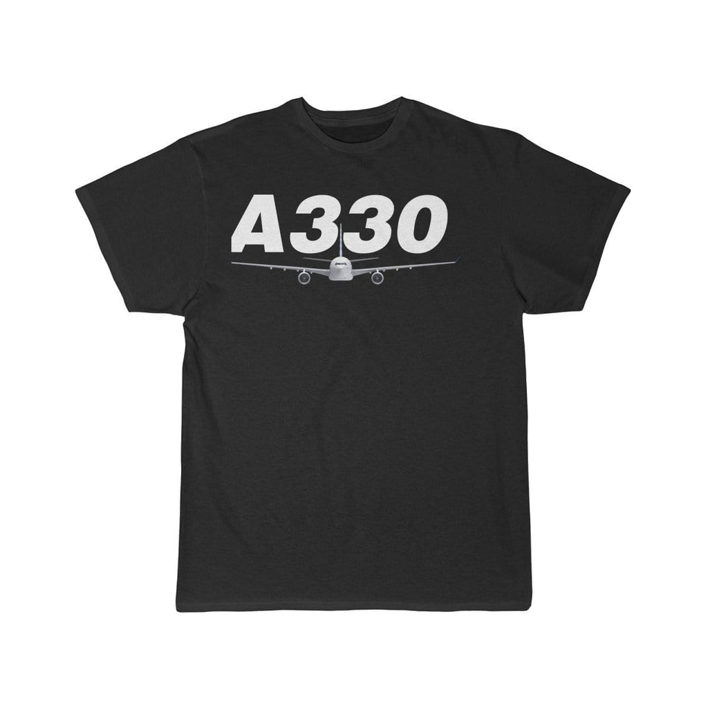 Airplane T-Shirt Black / L Airbus A330 T-shirts