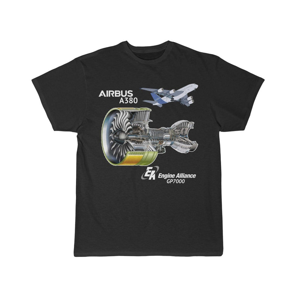 Airplane T-Shirt Black / L Airbus A380 T-shirts