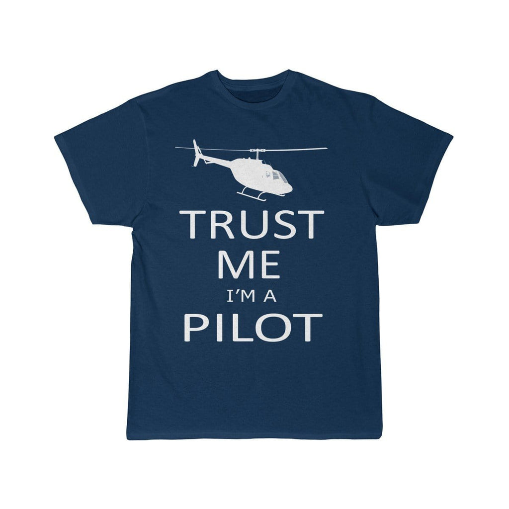 Airplane T-Shirt Navy / L TRUST ME I'M A PILOT (HELICOPTER) DESIGNED T-shirts