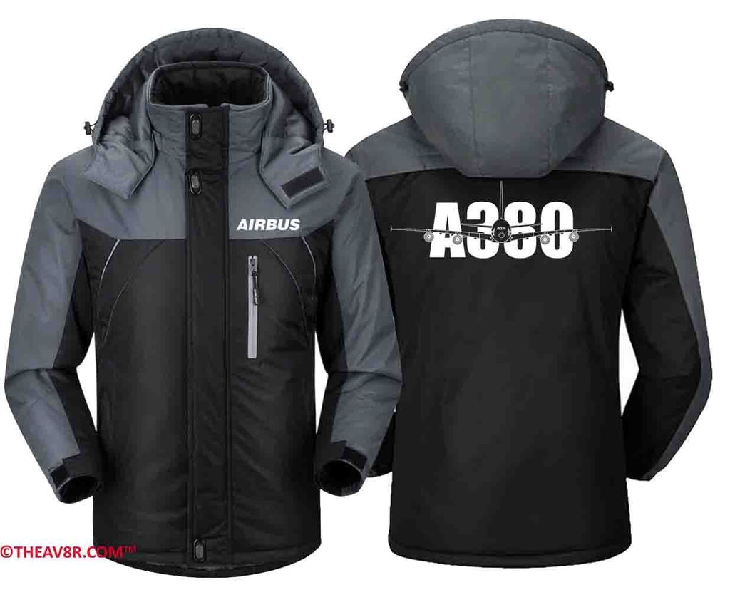 MA1 Windbreaker Black Gray / XS AIRBUS LOGO DESGINED