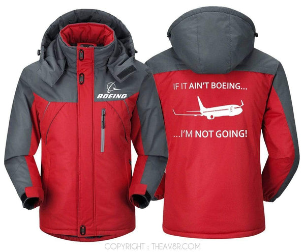 MA1 Windbreaker Red Gray / XS ... IF IT AIN'T BOEING ... I'M NOT GOING!