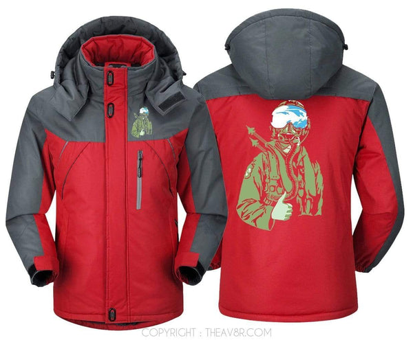 MA1 Windbreaker Red Gray / XS THE AMES BROS F 15