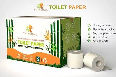 100% bamboo eco friendly toilet paper