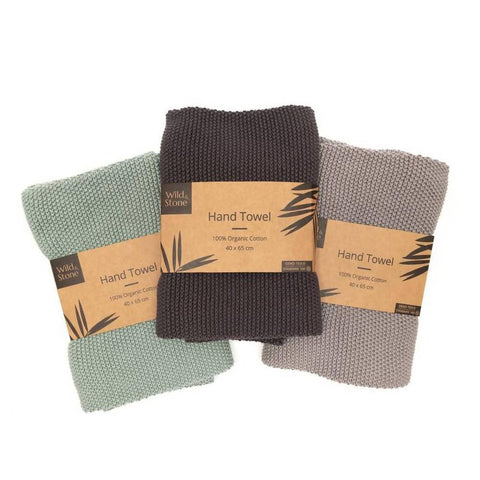 Organic hand towels for bathroom and kitchen