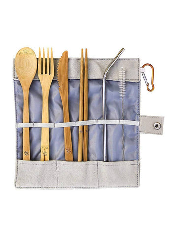 The fully sustainable natural, reusable Bamboo Cutlery Set