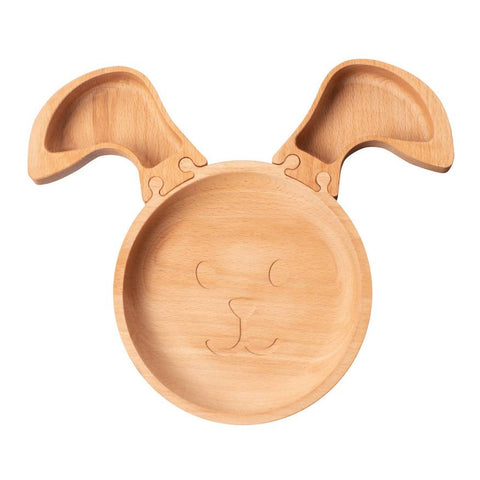 Wooden Rabbit Jigsaw Plate is a fun and eco-friendly plastic free alternative