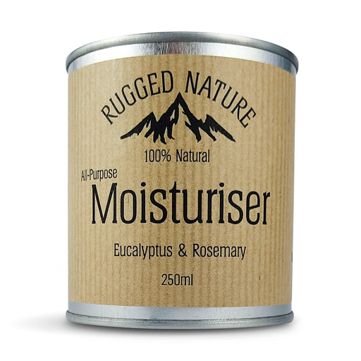 Rugged Nature 100% Natural Traditional Moisturiser - Eucalyptus and Rosemary - 250ml - Just Think Eco