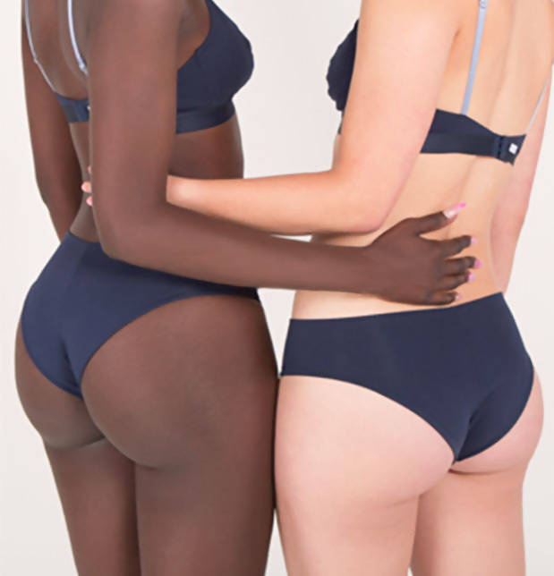 Pack of 2 Blue Organic Seamless Knickers