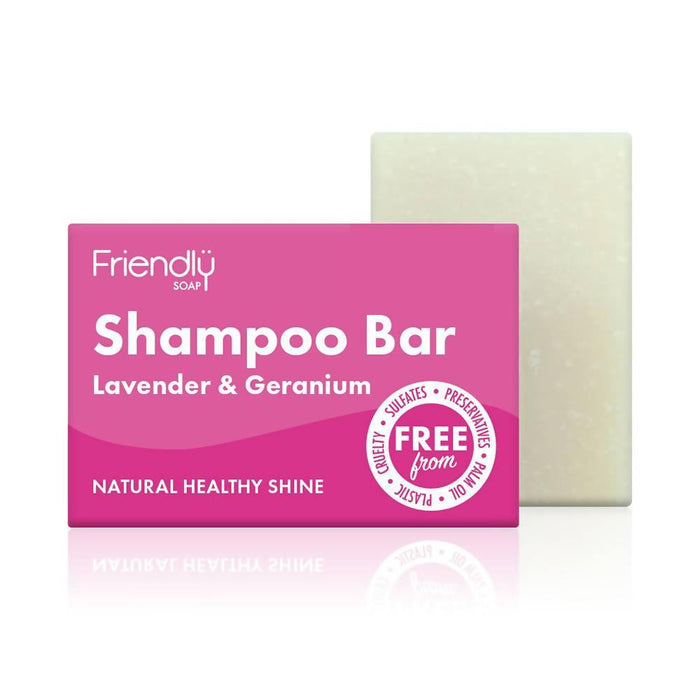 Friendly Soap - Lavender & Geranium Shampoo & Conditioner Bar Bundle - Just Think Eco
