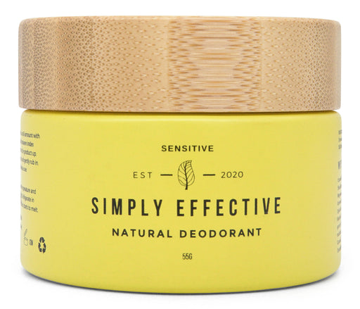 Simply Effective - Sensitive - Natural Deodorant Cream - Just Think Eco