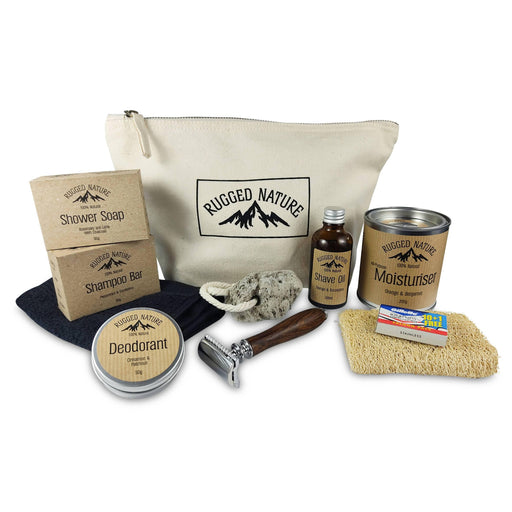 Rugged Nature All In Kit | Natural Male Grooming Kit | Rugged Nature - Just Think Eco