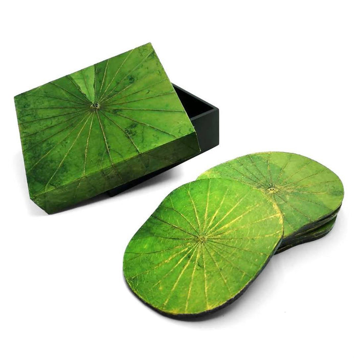 Lotus Leaf Coasters - Set of Six | Choice of 4 Colours - Just Think Eco