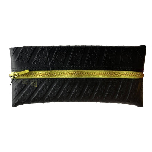 Upcycled Truck Tyre Rubber Flat Pencil Case - Yellow - Just Think Eco