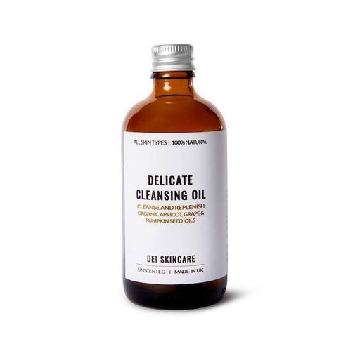 Delicate Cleansing Oil With Organic Apricot, Jojoba, Grape & Pumpkin Seed Oils | 50g | DEI Skincare - Just Think Eco