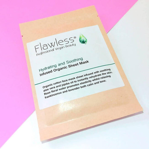 Rose & Frankincense Hydrating and Soothing Facial Sheet Mask | Flawless - Just Think Eco
