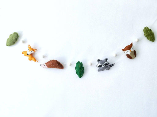 Woodland Felt Garland - Just Think Eco
