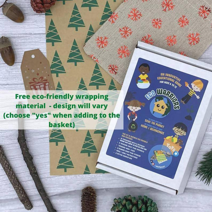 Eco Warriors Home Flash Cards Game, Kids Learn Chores & Fight Climate Change, Eco Friendly Plastic Free Gift Green Christmas Stocking Filler
